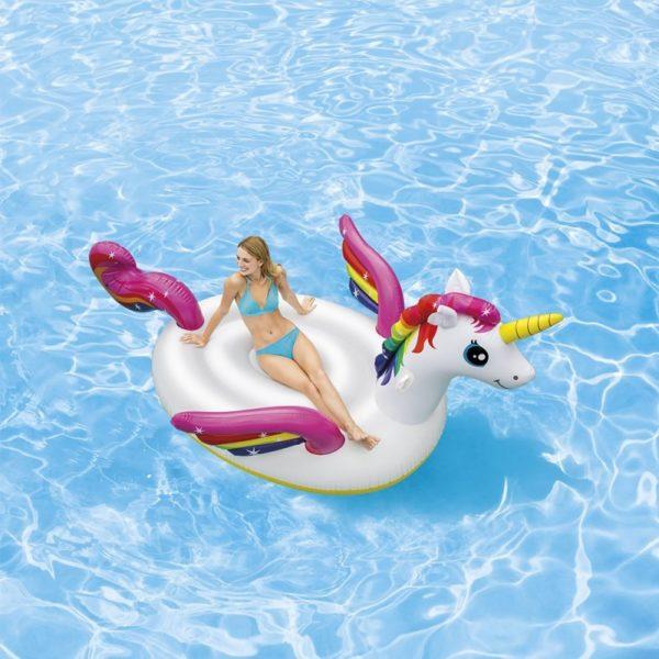 Accessoire piscine : mega ile licorne magique